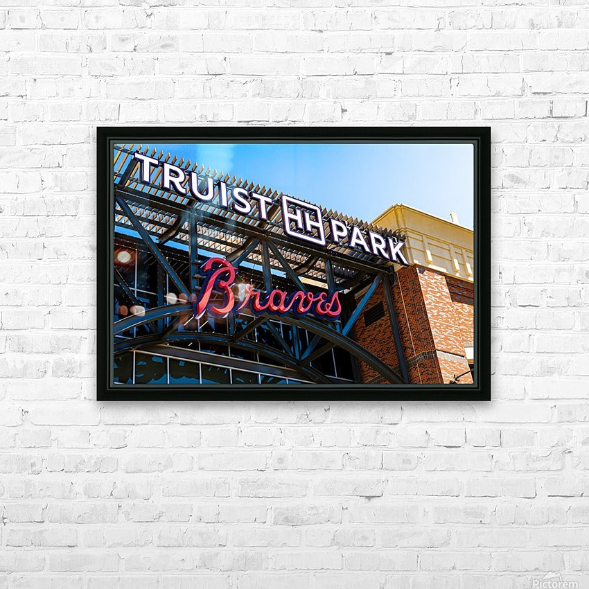 Truist Park   The Battery Atlanta GA 6718 HD Sublimation Metal print with Decorating Float Frame (BOX)