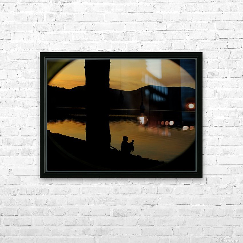 contemplation at waters edge HD Sublimation Metal print with Decorating Float Frame (BOX)