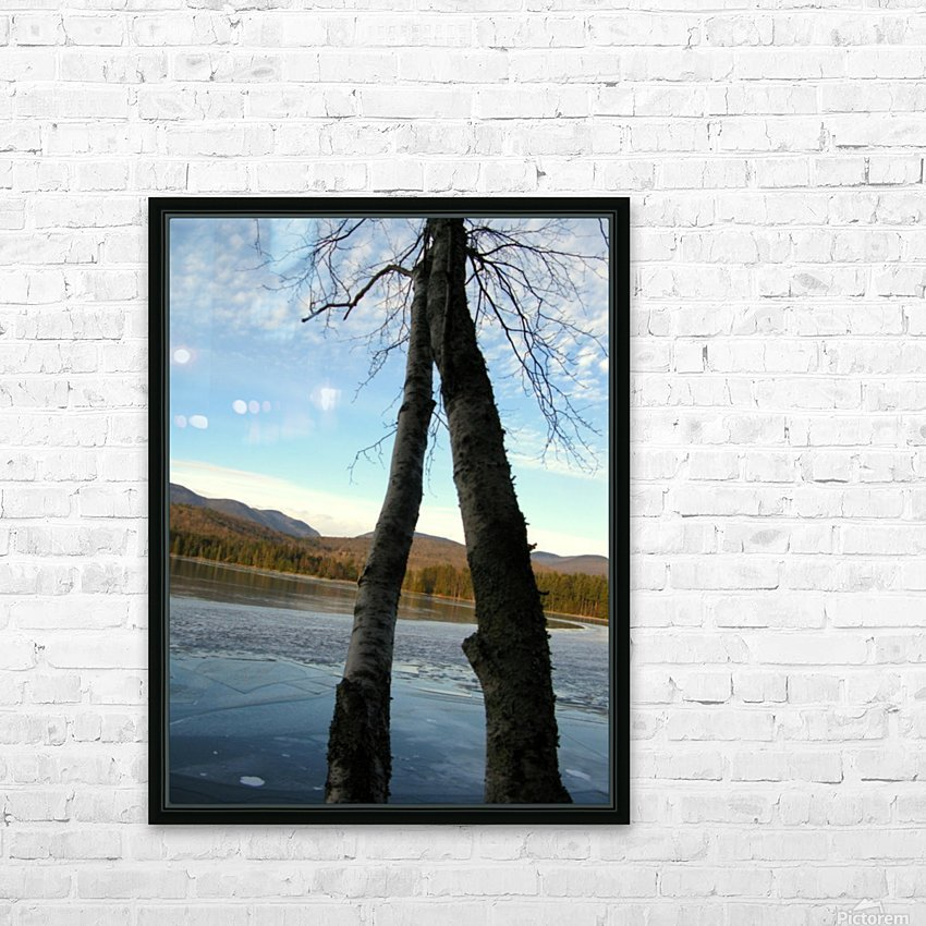 Love at the Lake HD Sublimation Metal print with Decorating Float Frame (BOX)