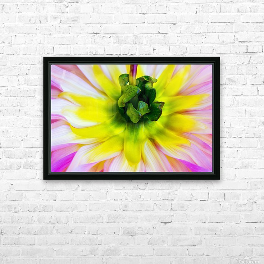 Pink Yellow Green  HD Sublimation Metal print with Decorating Float Frame (BOX)