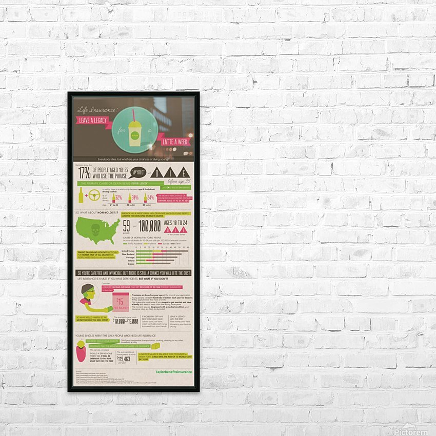 Infographic HD Sublimation Metal print with Decorating Float Frame (BOX)