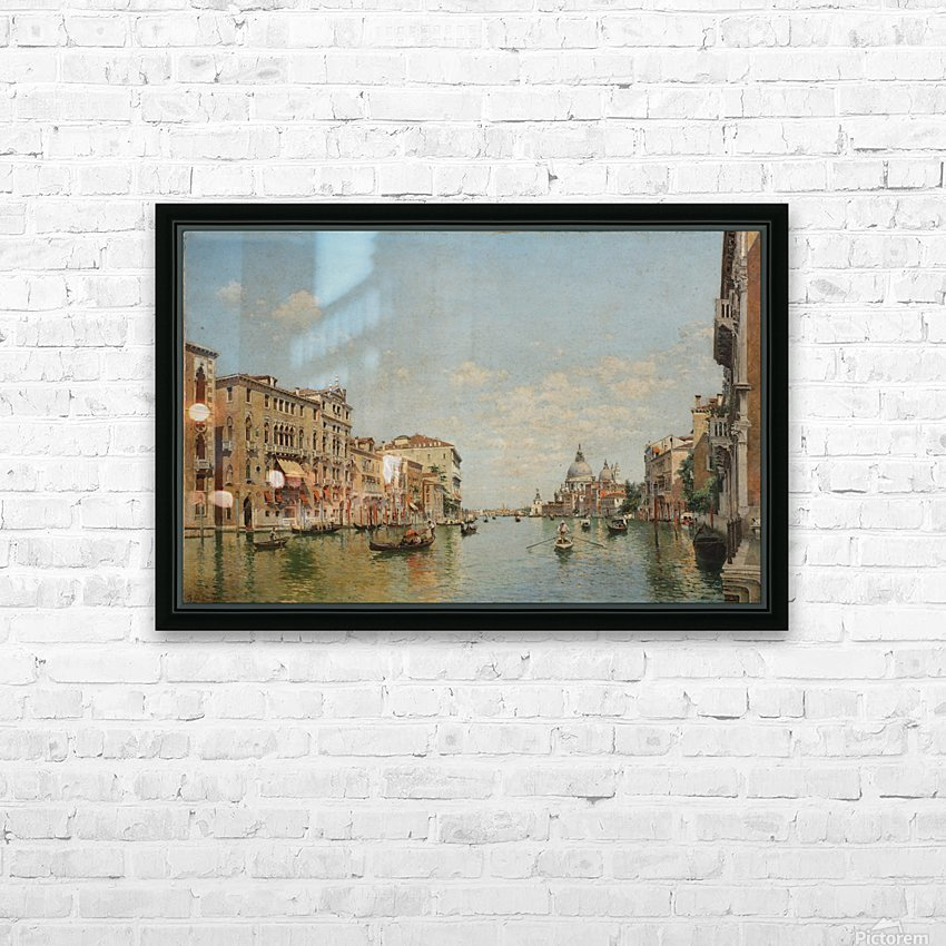 View of the Grand Canal of Venice HD Sublimation Metal print with Decorating Float Frame (BOX)