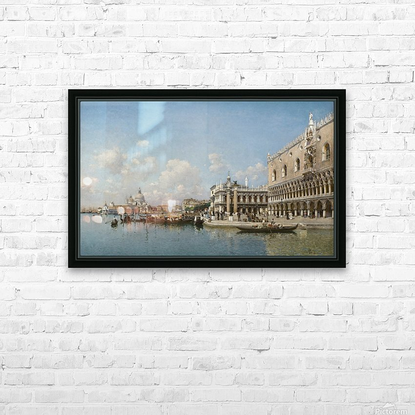 The Doge Palace and Santa Maria Della Salute HD Sublimation Metal print with Decorating Float Frame (BOX)