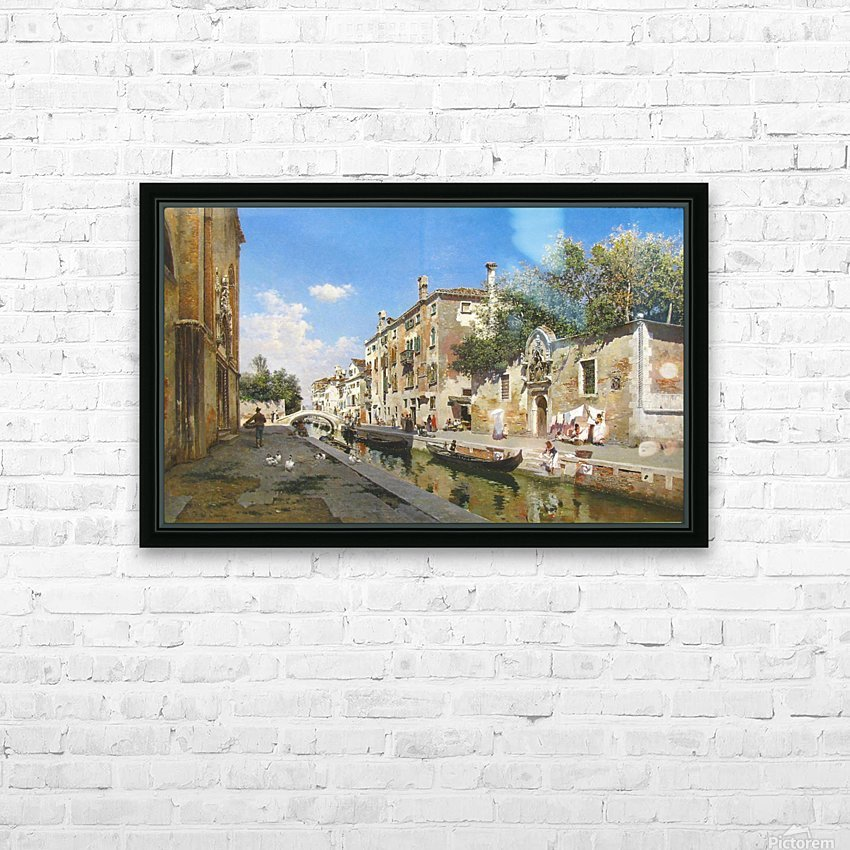 Canale San Giuseppe, Venezia HD Sublimation Metal print with Decorating Float Frame (BOX)