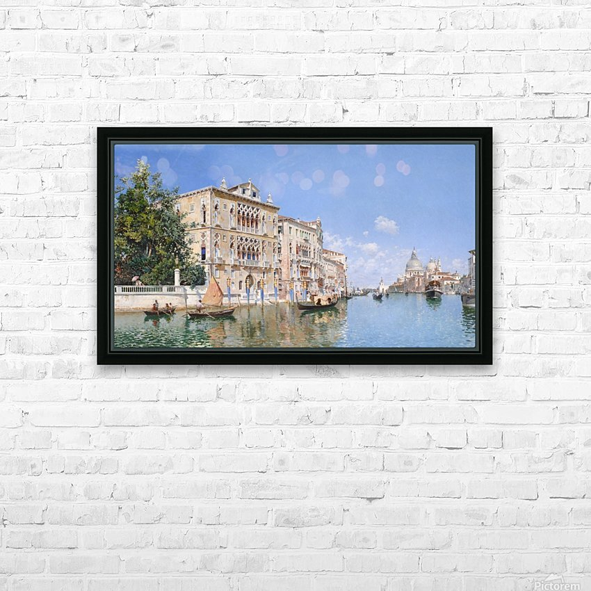 The Grand Canal Looking Towards Santa Maria Della Salute HD Sublimation Metal print with Decorating Float Frame (BOX)