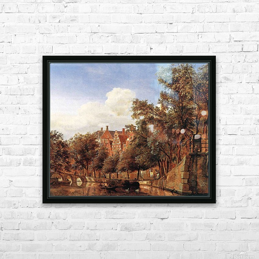Along the canal HD Sublimation Metal print with Decorating Float Frame (BOX)