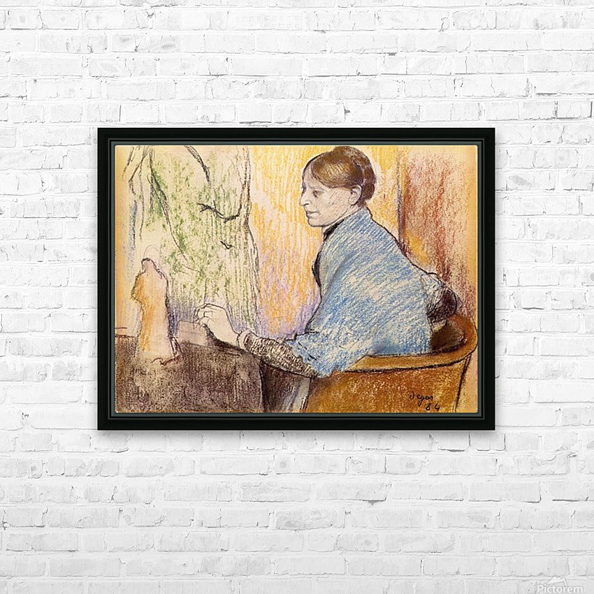 Mme Henri Rouart before a  statue by Degas HD Sublimation Metal print with Decorating Float Frame (BOX)