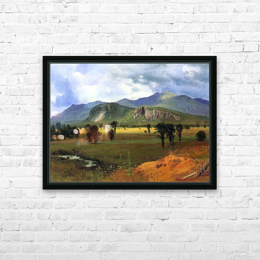Moat Mountain, Intervale, New Hampshire by Bierstadt HD Sublimation Metal print with Decorating Float Frame (BOX)