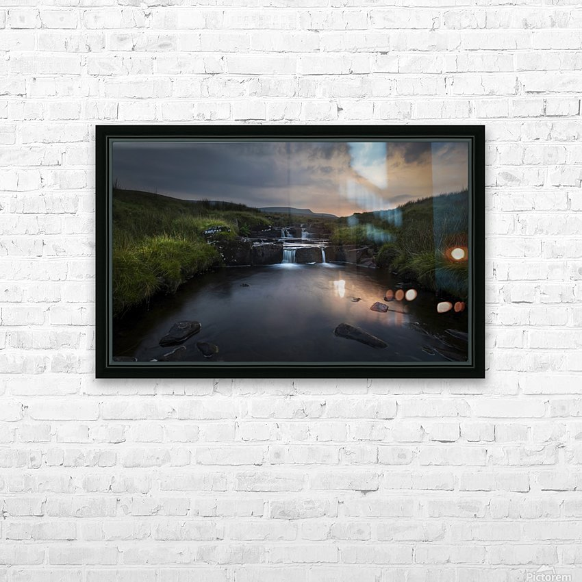 Dusk over the Brecon Beacons HD Sublimation Metal print with Decorating Float Frame (BOX)