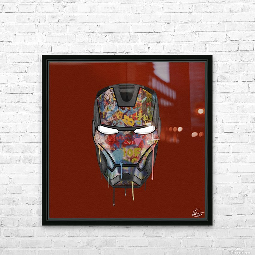 Iron Man HD Sublimation Metal print with Decorating Float Frame (BOX)