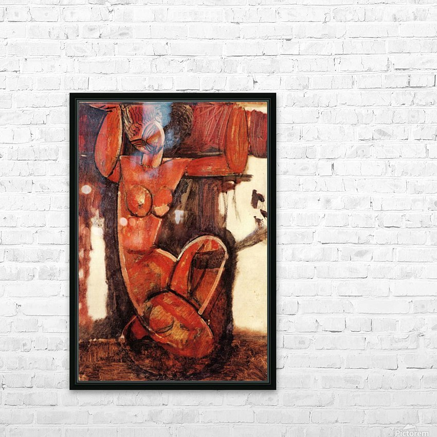 Modigliani - Caryatid -5- HD Sublimation Metal print with Decorating Float Frame (BOX)