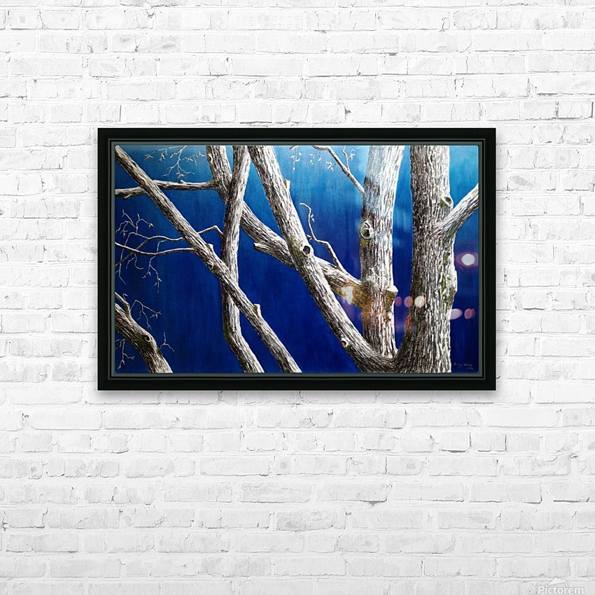 Trees at Dusk HD Sublimation Metal print with Decorating Float Frame (BOX)