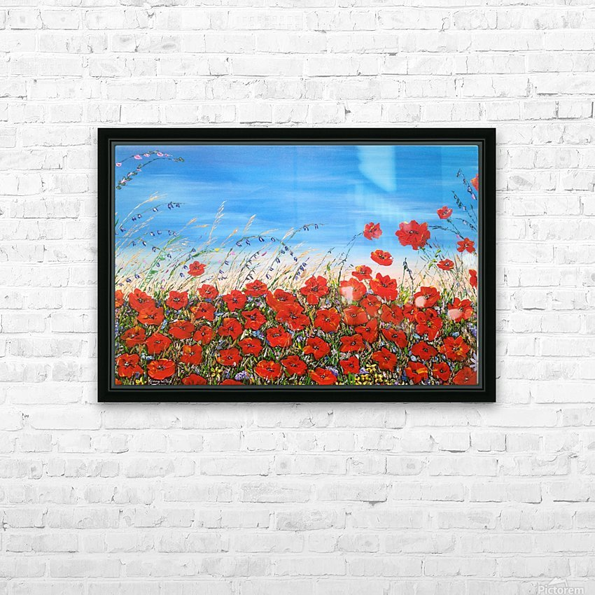 Poppies in the Wind HD Sublimation Metal print with Decorating Float Frame (BOX)