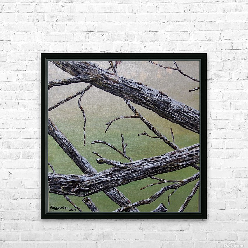 Branches Squared HD Sublimation Metal print with Decorating Float Frame (BOX)