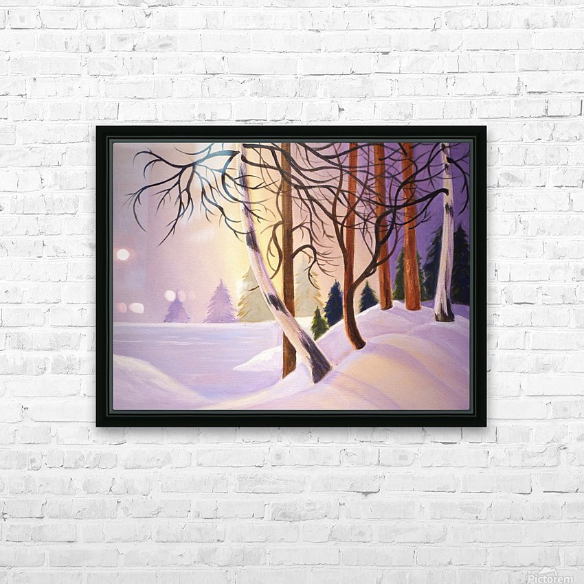 Tanglewood.1 HD Sublimation Metal print with Decorating Float Frame (BOX)