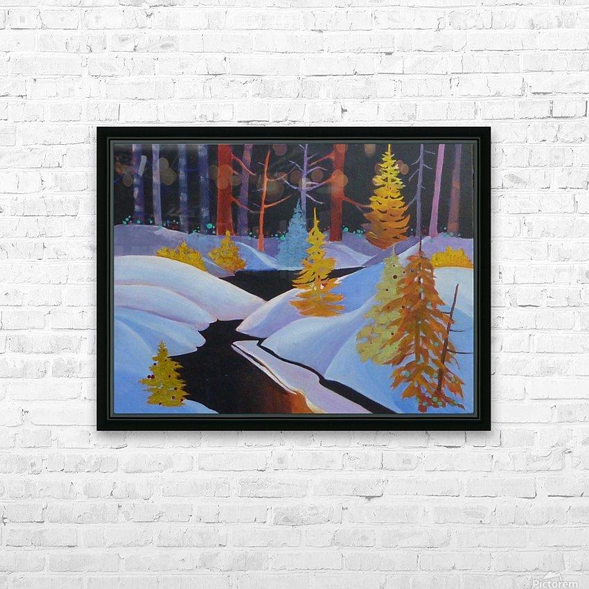 winterwonderland.acrylic HD Sublimation Metal print with Decorating Float Frame (BOX)