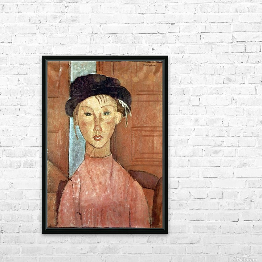 Modigliani - Girl with Hat HD Sublimation Metal print with Decorating Float Frame (BOX)