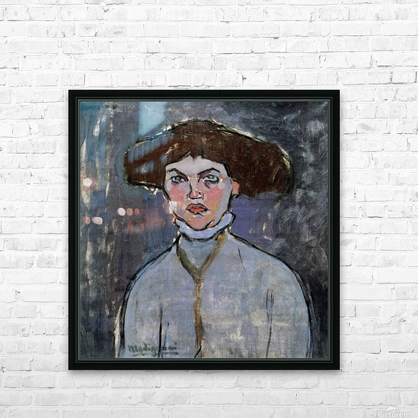 Modigliani - Head of a young woman HD Sublimation Metal print with Decorating Float Frame (BOX)