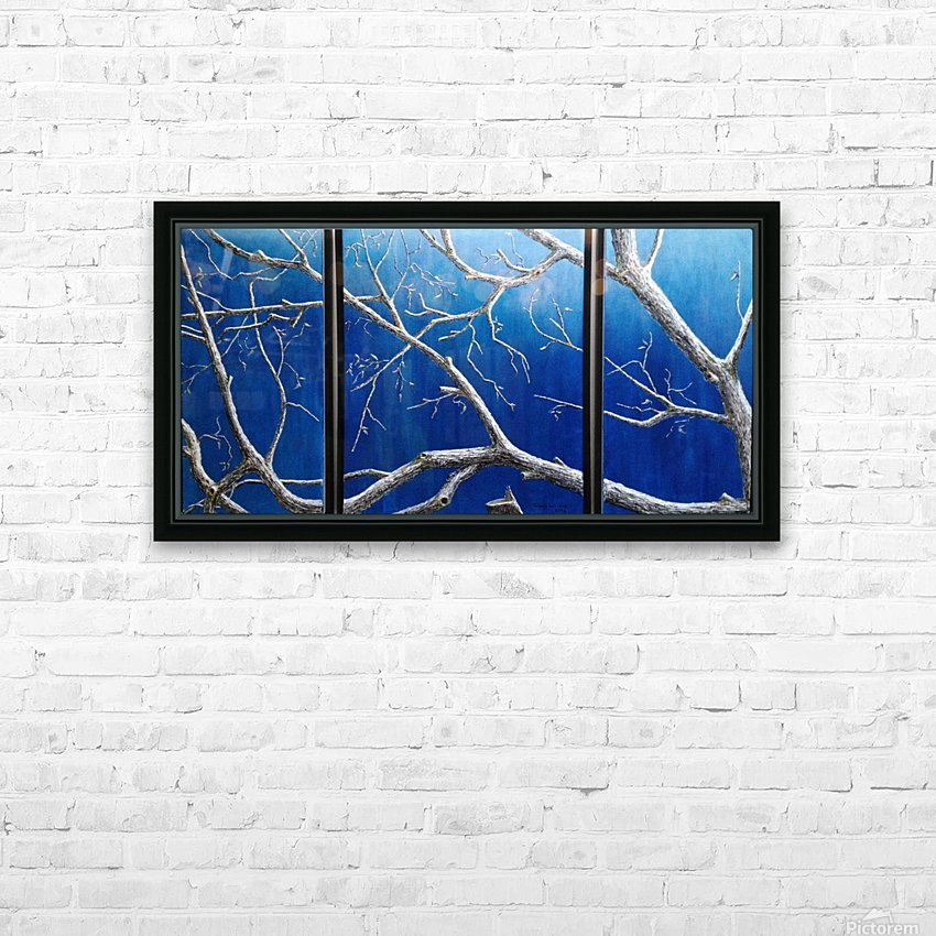 Angel Lace Branches HD Sublimation Metal print with Decorating Float Frame (BOX)