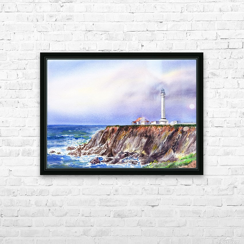 Lighthouse Point Arena California  HD Sublimation Metal print with Decorating Float Frame (BOX)