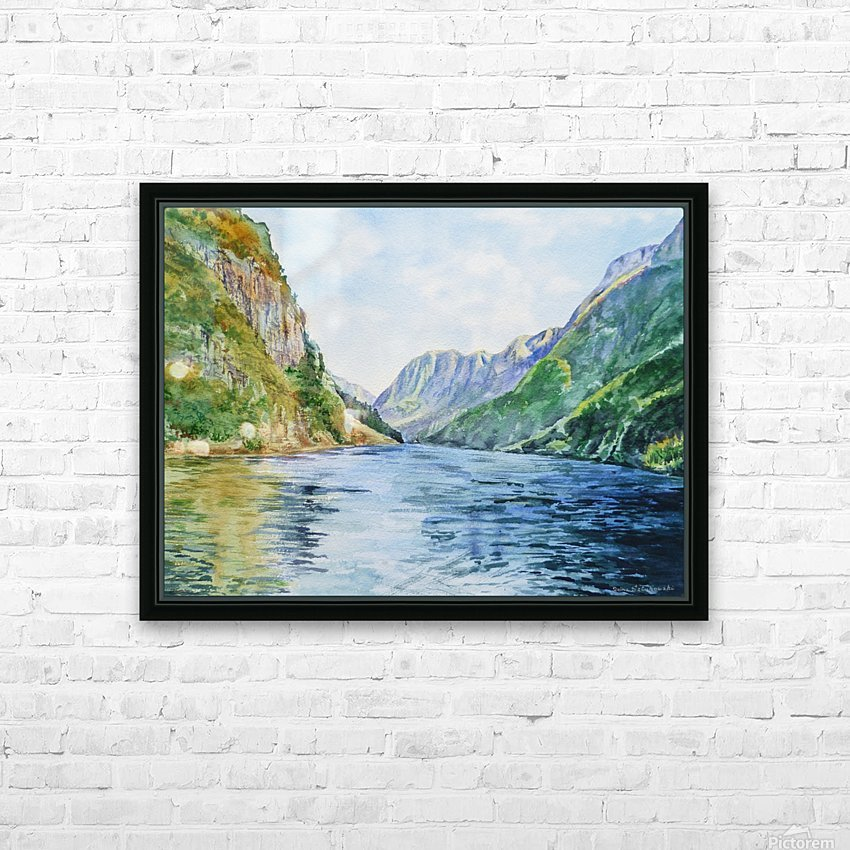 Norway Fjord HD Sublimation Metal print with Decorating Float Frame (BOX)