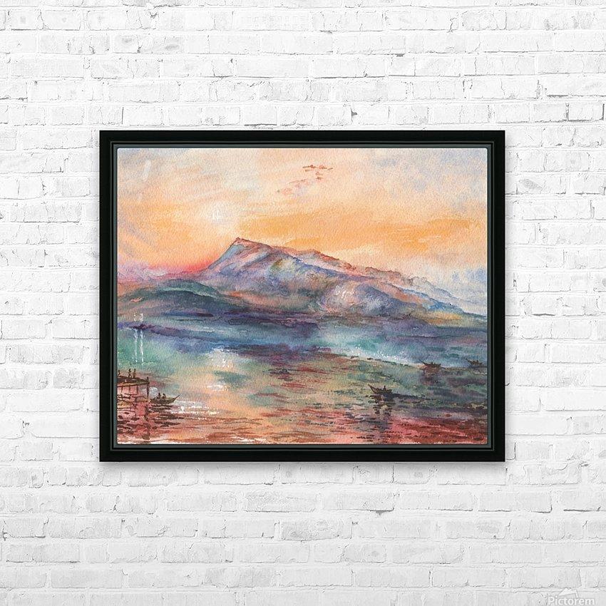 Mount Rigi Switzerland Lake HD Sublimation Metal print with Decorating Float Frame (BOX)