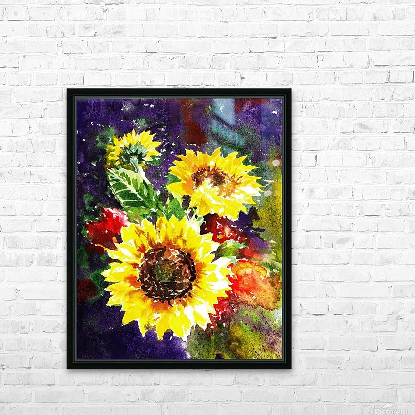 Impressionism And Sunflowers HD Sublimation Metal print with Decorating Float Frame (BOX)