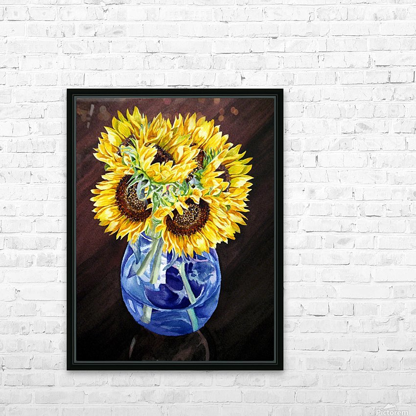A Bunch Of Sunflowers HD Sublimation Metal print with Decorating Float Frame (BOX)