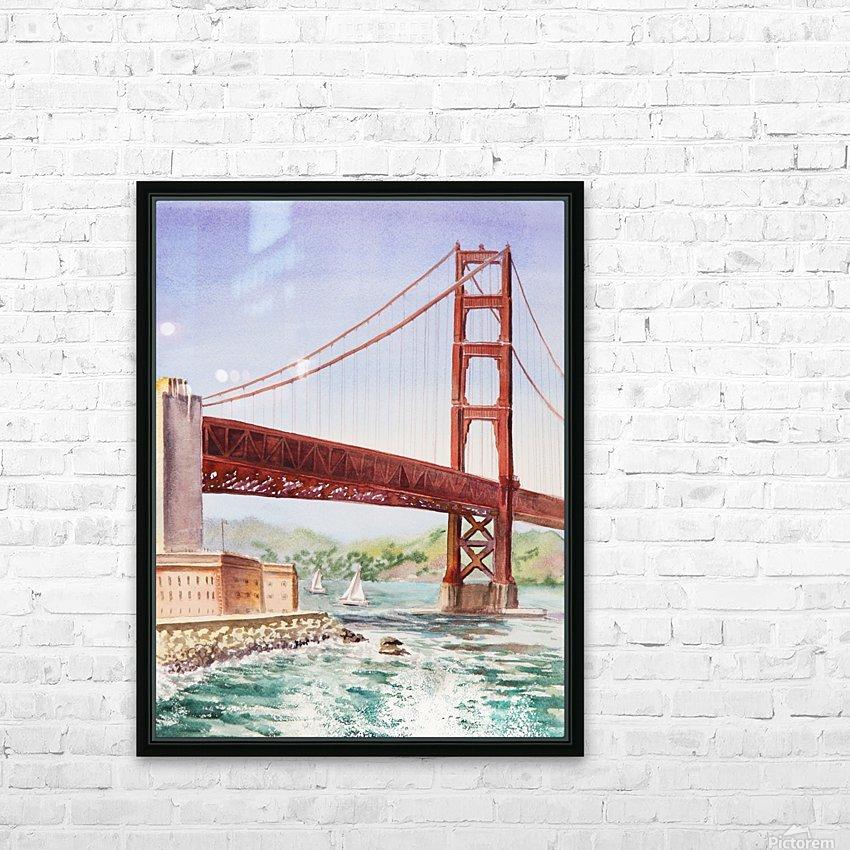 Golden Gate Bridge San Francisco HD Sublimation Metal print with Decorating Float Frame (BOX)