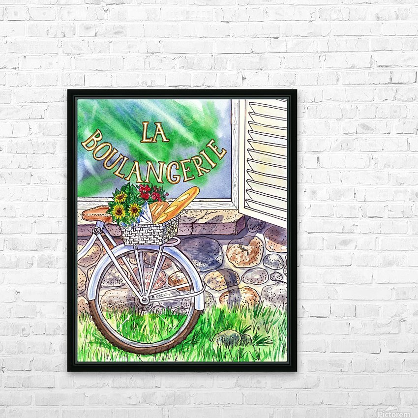 At The French Bakery  HD Sublimation Metal print with Decorating Float Frame (BOX)