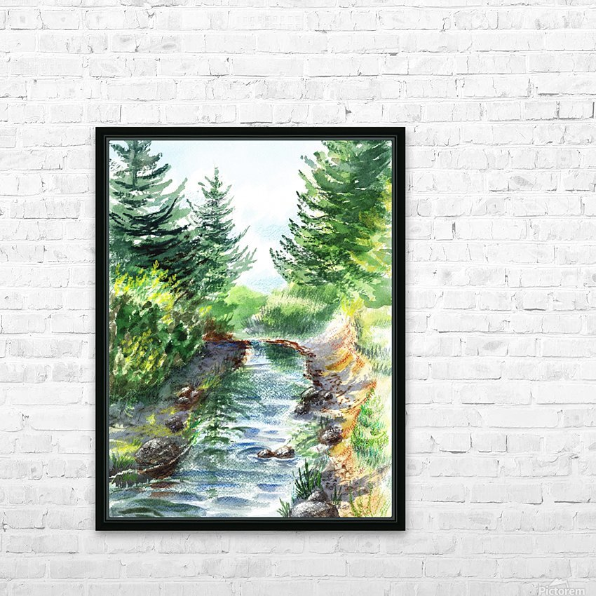 Forest Creek HD Sublimation Metal print with Decorating Float Frame (BOX)
