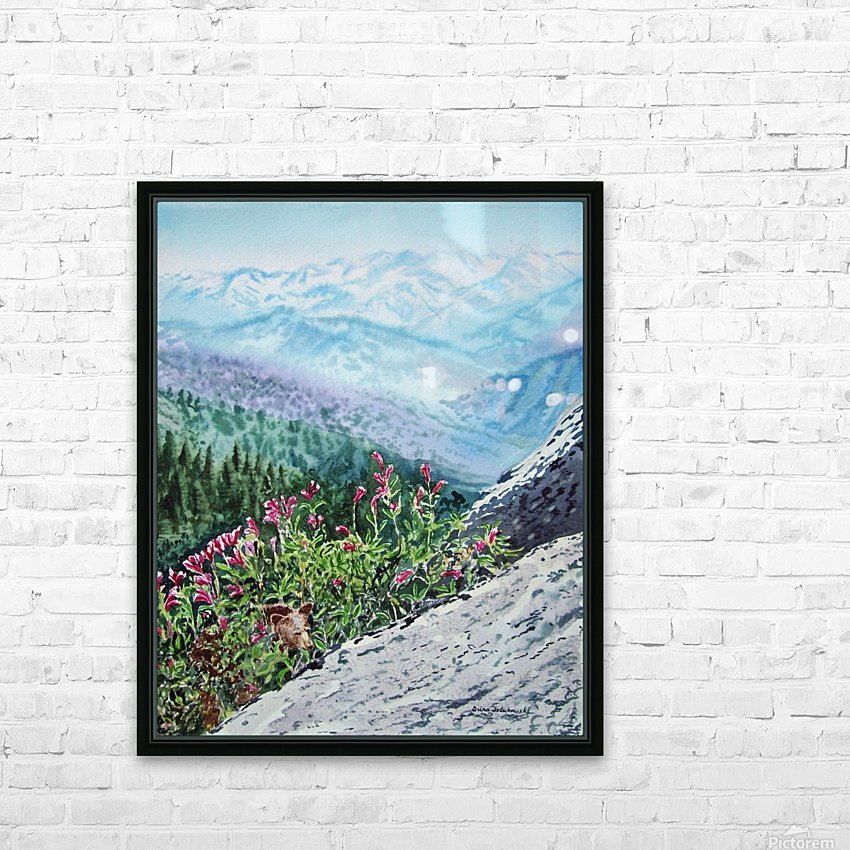 Mountains Of Sequoia  HD Sublimation Metal print with Decorating Float Frame (BOX)