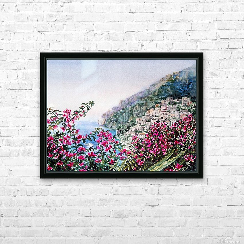 Positano Italy HD Sublimation Metal print with Decorating Float Frame (BOX)