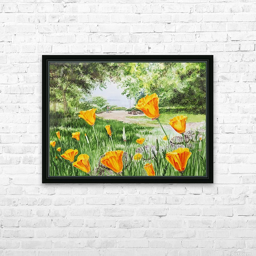California Poppies HD Sublimation Metal print with Decorating Float Frame (BOX)