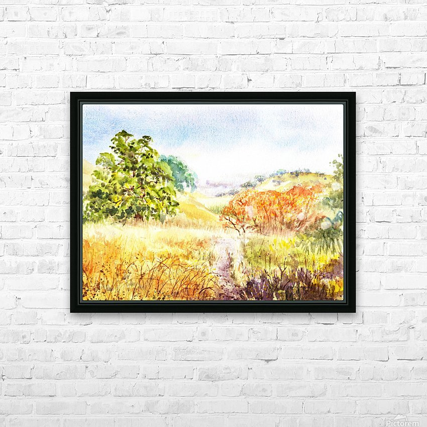 Fall Landscape HD Sublimation Metal print with Decorating Float Frame (BOX)