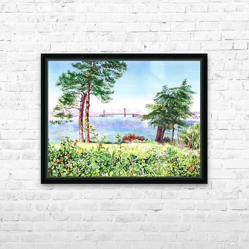 Golden Gate Bridge View From Lincoln Park San Francisco HD Sublimation Metal print with Decorating Float Frame (BOX)
