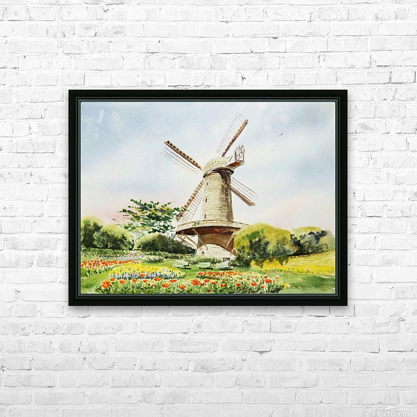 Dutch Windmill in San Francisco  HD Sublimation Metal print with Decorating Float Frame (BOX)