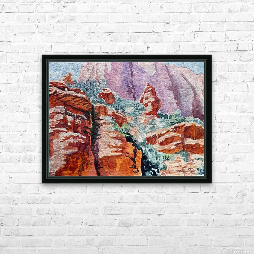 Sedona Arizona Rocky Canyon HD Sublimation Metal print with Decorating Float Frame (BOX)