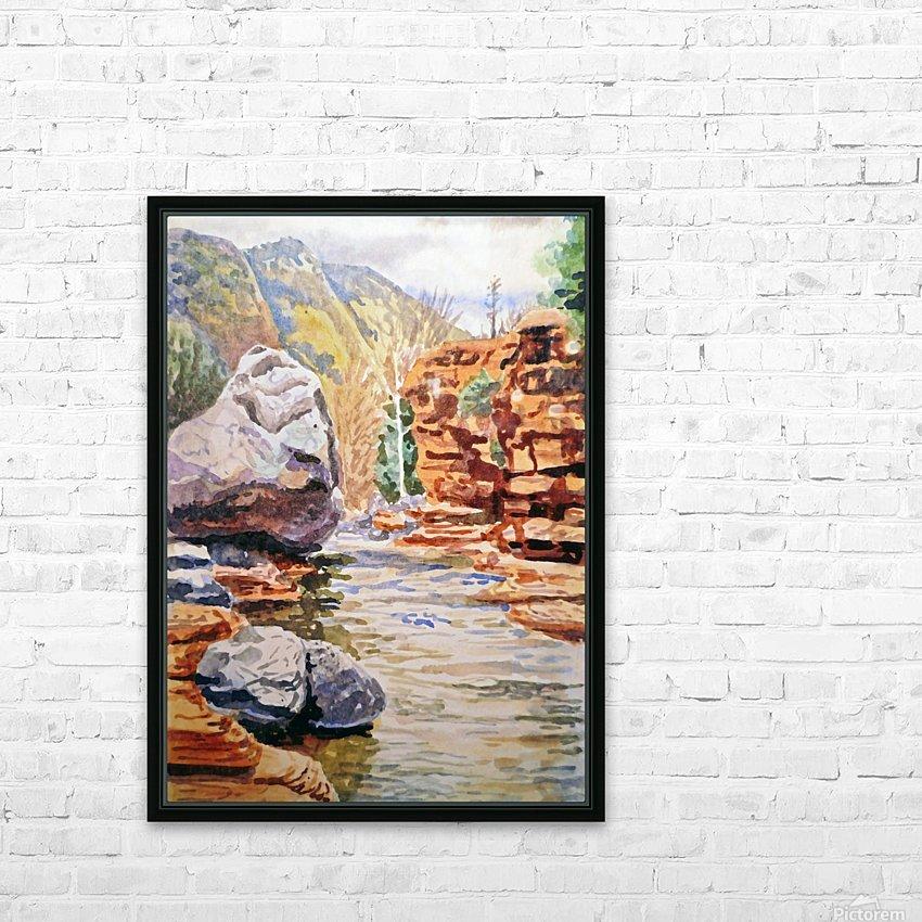Sedona Arizona Slide Creek HD Sublimation Metal print with Decorating Float Frame (BOX)