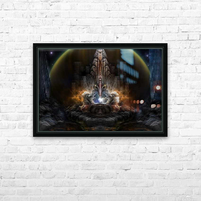 Path Of Shadows Fractal Fantasy Art HD Sublimation Metal print with Decorating Float Frame (BOX)
