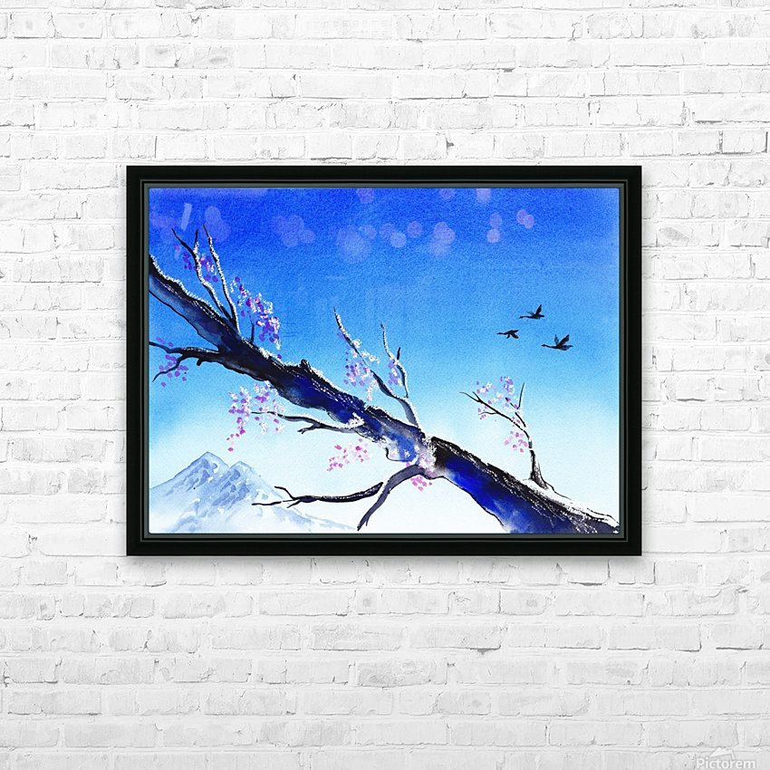 Spring In The Mountains HD Sublimation Metal print with Decorating Float Frame (BOX)