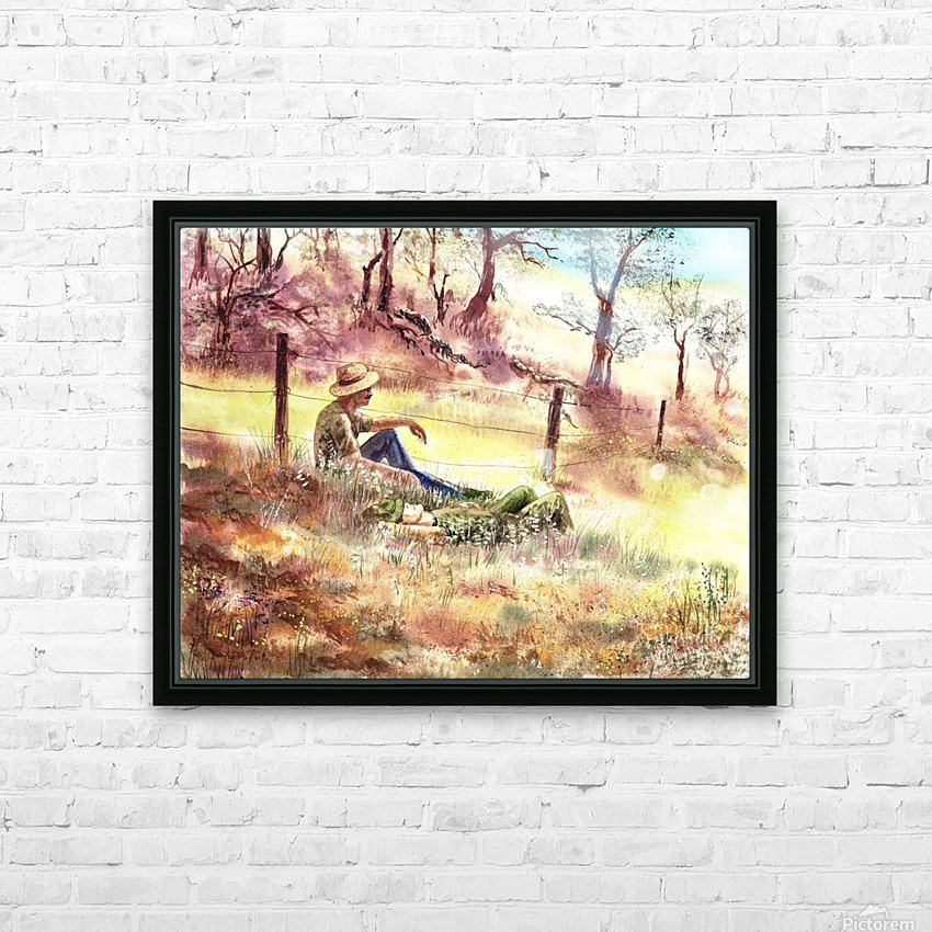Farmers And Hunters Heaven HD Sublimation Metal print with Decorating Float Frame (BOX)