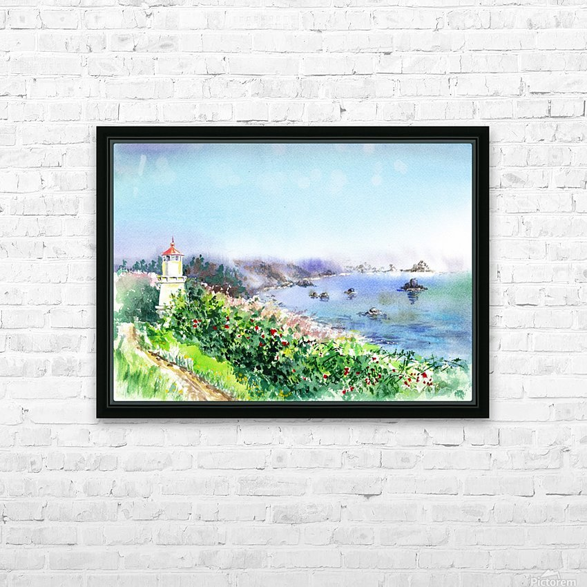 Lighthouse Trinidad California HD Sublimation Metal print with Decorating Float Frame (BOX)