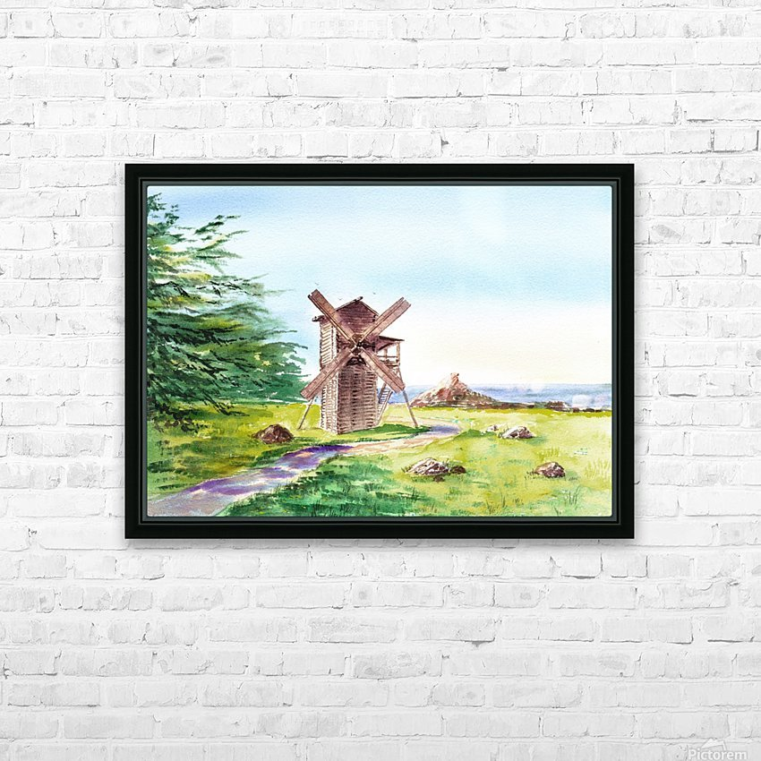 Landscapes Of California Fort Ross Windmill HD Sublimation Metal print with Decorating Float Frame (BOX)