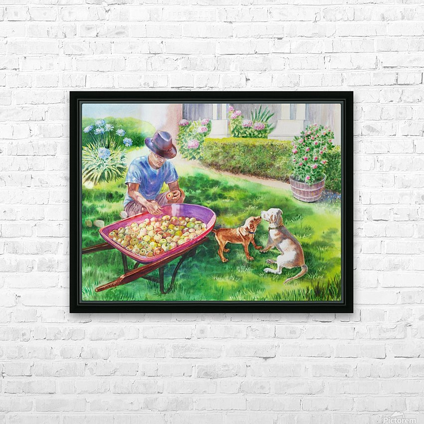 Apples Harvest HD Sublimation Metal print with Decorating Float Frame (BOX)