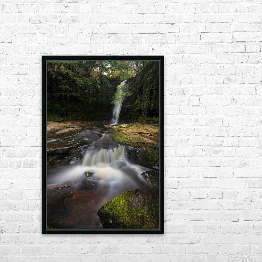 Blaen y Glyn waterfalls HD Sublimation Metal print with Decorating Float Frame (BOX)