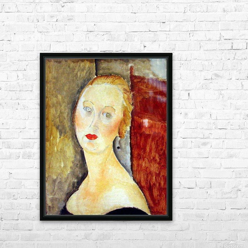 Modigliani - Portrait de Germaine Survage HD Sublimation Metal print with Decorating Float Frame (BOX)
