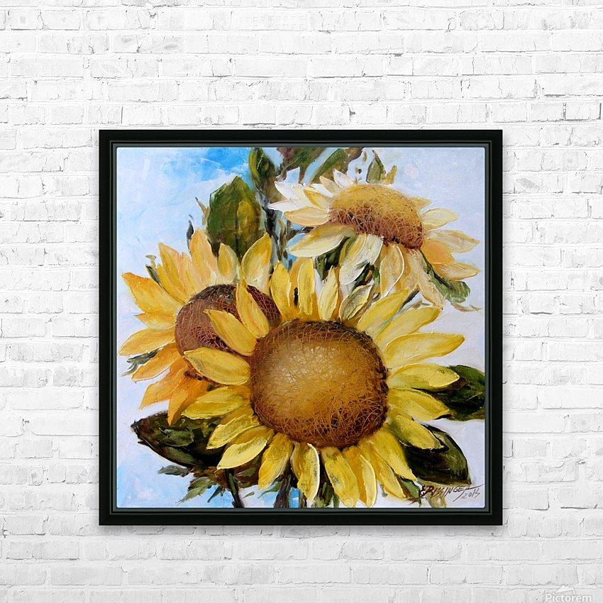 Floarea soarelui HD Sublimation Metal print with Decorating Float Frame (BOX)