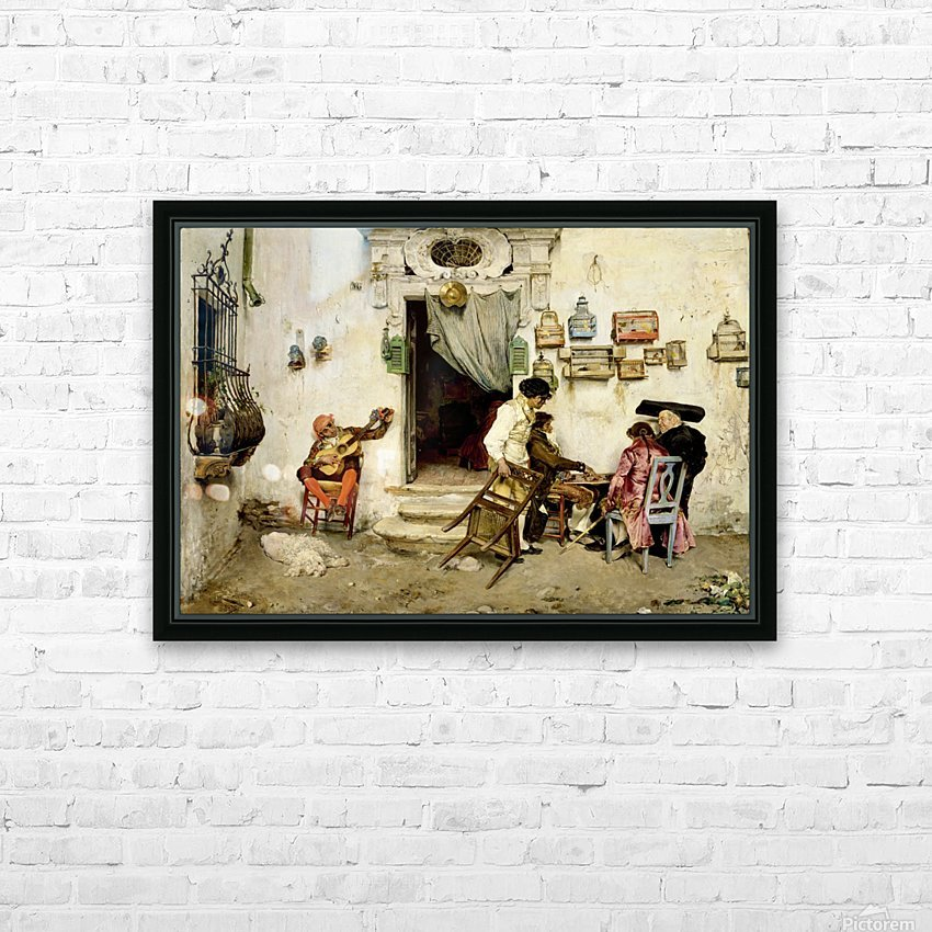 Figaro Shop HD Sublimation Metal print with Decorating Float Frame (BOX)
