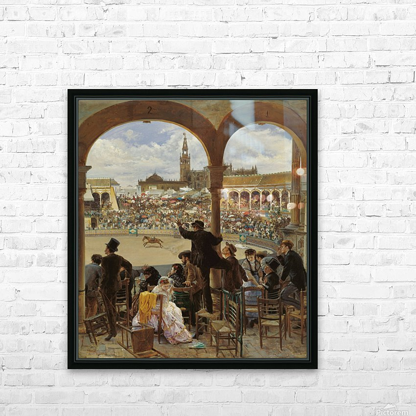 A Pass in the Bullring HD Sublimation Metal print with Decorating Float Frame (BOX)